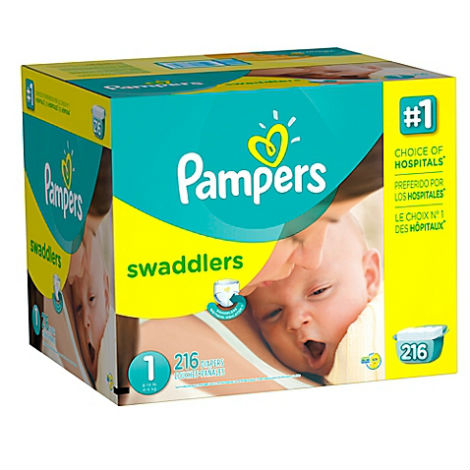 couches pampers swaddlers taille 1 bo te conomique. Black Bedroom Furniture Sets. Home Design Ideas